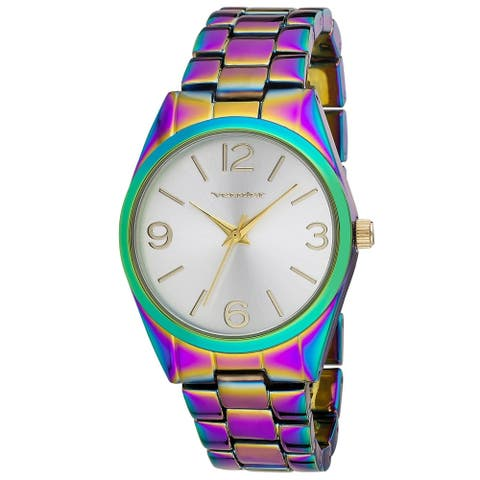 Vernier Womens V11610BW Rainbow Round Link Watch
