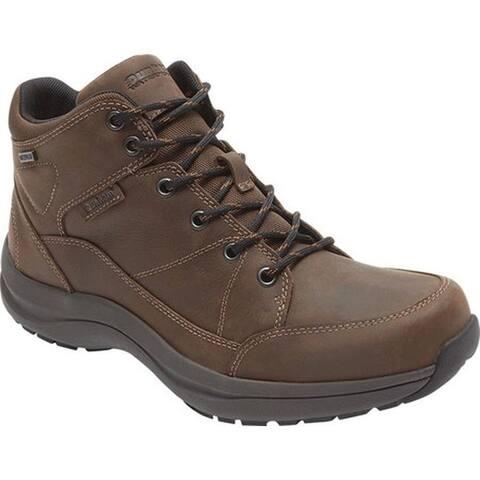 Dunham Men's Simon-DUN Waterproof Ankle Boot Brown Leather