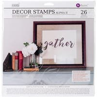 12 x 12 in. Iron Orchid Designs Decor Clear Stamps - Alpha 2,