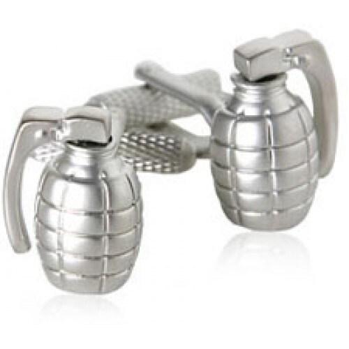 Grenade Military Defense War Cufflinks
