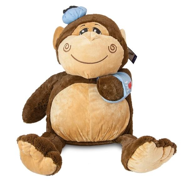 Shop Feel Better Soon Jumbo Plush Monkey Jojo Brown Free