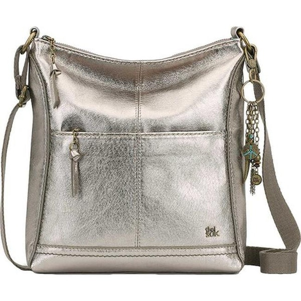 THE SAK Women  x27 s Lucia Crossbody Bag Pyrite Metallic Leather - US Women  d7b3d45db93f4