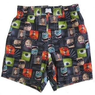 Disney Baby Boys Multi Color Pixar Character Print Swimwear Shorts 2-4T
