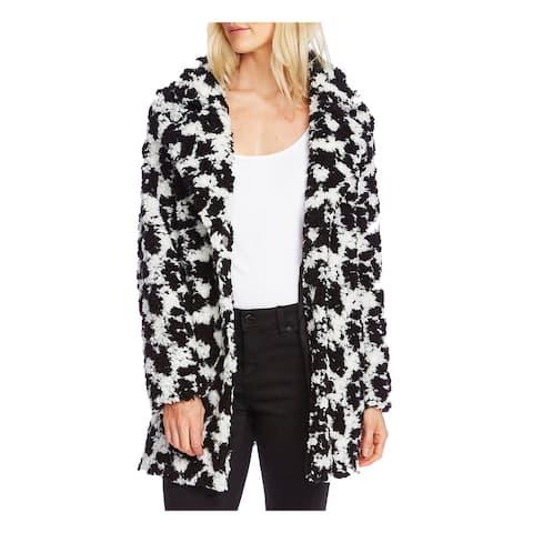 VINCE CAMUTO Womens Black Button Down Coat Size XXS