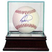Ryan Howard signed Rawlings Official Major League Baseball w Glass Case Phillies MLB Hologram