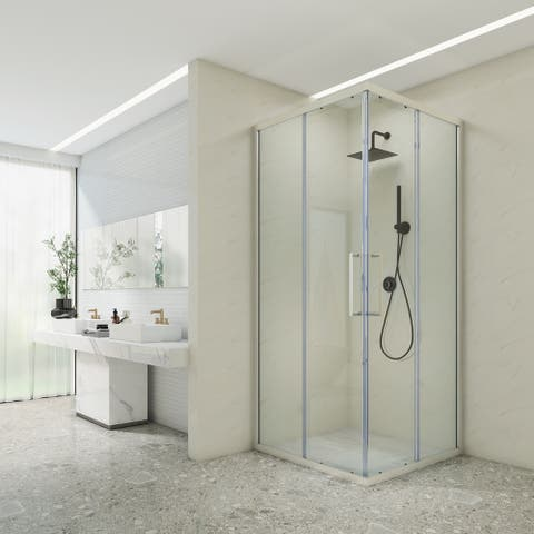 Art-Leon Cornerview Shower Enclosure with Sliding Door