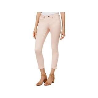 Earl Jean Womens Ankle Jeans Denim Zipped Ankle