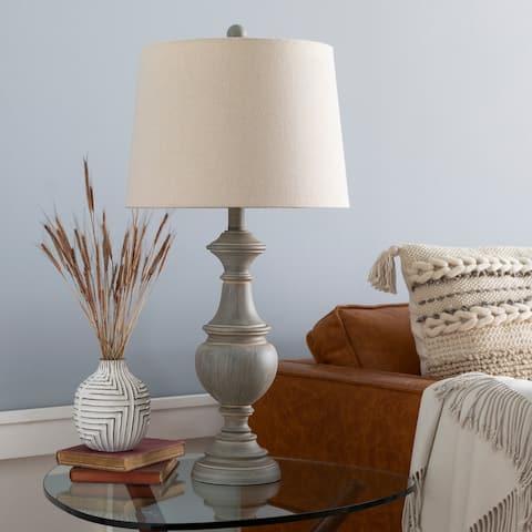 "Ronan Classic Grey 28-inch Table Lamp - 28""H x 14""W x 14""D"