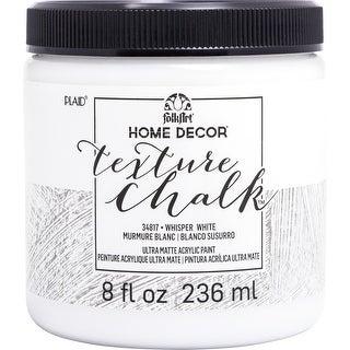 Folkart Home Decor Texture Chalk Paint 8Oz-Whisper White