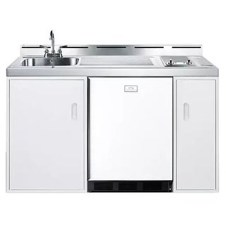 Summit C60GLASS 60 Inch Combo Kitchen with Smoothtop Electric Burners