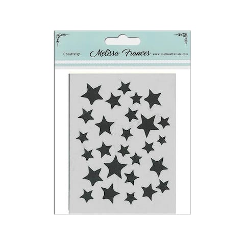 St4034 melissa frances stencil 3x4 star shower