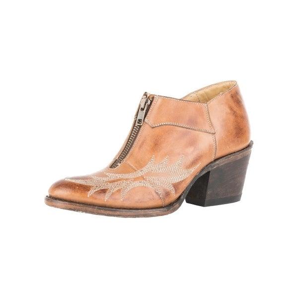 Stetson Western Boot Womens Front Zip Nicole Round