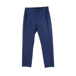 Theory NEW Navy Blue Womens Size 0 Seamed Flat Front Dress Pants