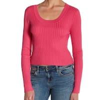 Cotton Emporium Womens Large Ribbed Scoop Neck Sweater