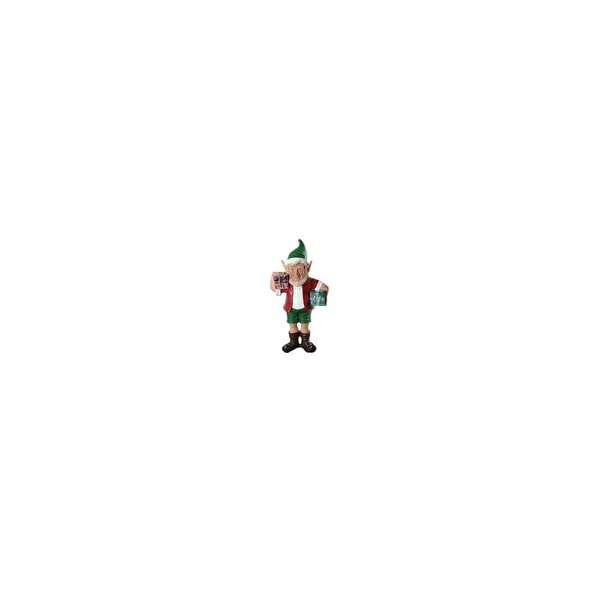 """Christmas at Winterland WL-ELF-2G-02 24"""" Christmas Elf Figurine with 2 Gift Packages - MultiColor - N/A"""
