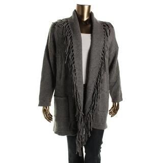 Lauren Ralph Lauren Womens Plus Cashmere Blend Open Front Cardigan Sweater