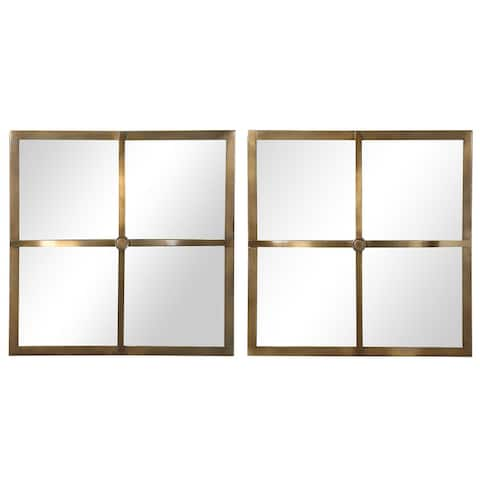 Uttermost Window Pane Square Mirrors (Set of 2)