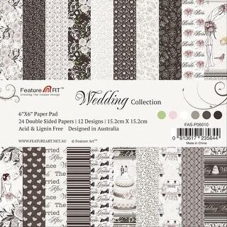 "Wedding Paper Pad 6""X6"" 24/Pkg-12 Designs/2 Each"