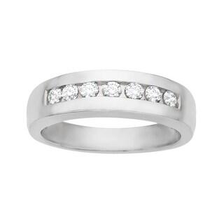 1/2 ct Round-cut Diamond Anniversary Ring in Palladium