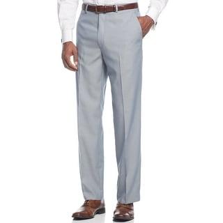 Sean John Big and Tall Dress Pants 44W x 32L Blue Flat Front Suit-Separates
