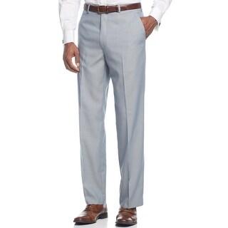 Sean John Light Blue Texture Flat Front Dress Pants 32 x 30 Suit-Separates