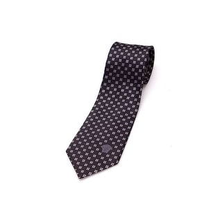 Versace Men Medusa Slim Silk Neck Tie CR8LSEB0893 0005 White Pin Dot