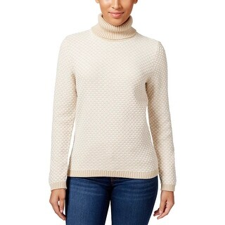 Karen Scott Womens Turtleneck Sweater Knit Ribbed Trim - xL