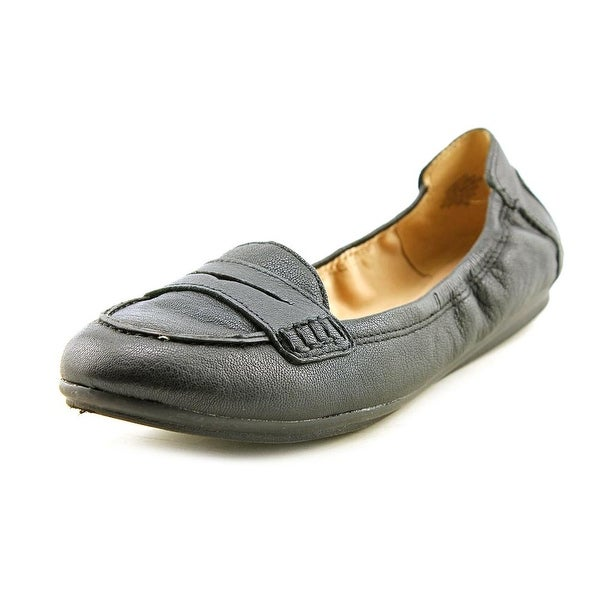 Easy Spirit e360 Grotto Women Round Toe Leather Black Loafer