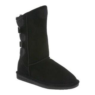 Bearpaw Women's Boshie Wide Boot Black II Suede