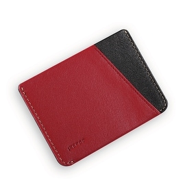 Ikepod Micro Slim Card Wallet (Red of 4 Color) [Italy Made//Top Leather]