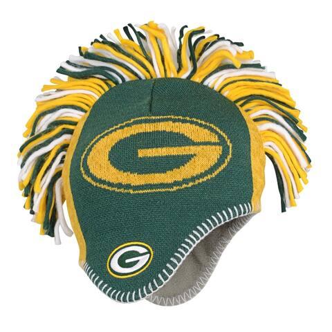 Green Bay Packers Youth Fleece Lined Mohawk Knit Hat