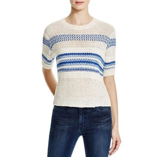 Current/Elliott Womens Pullover Sweater Knit Open Stitch