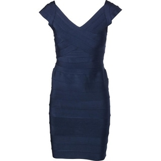 Aqua Womens Bandage Mini Bodycon Dress - L