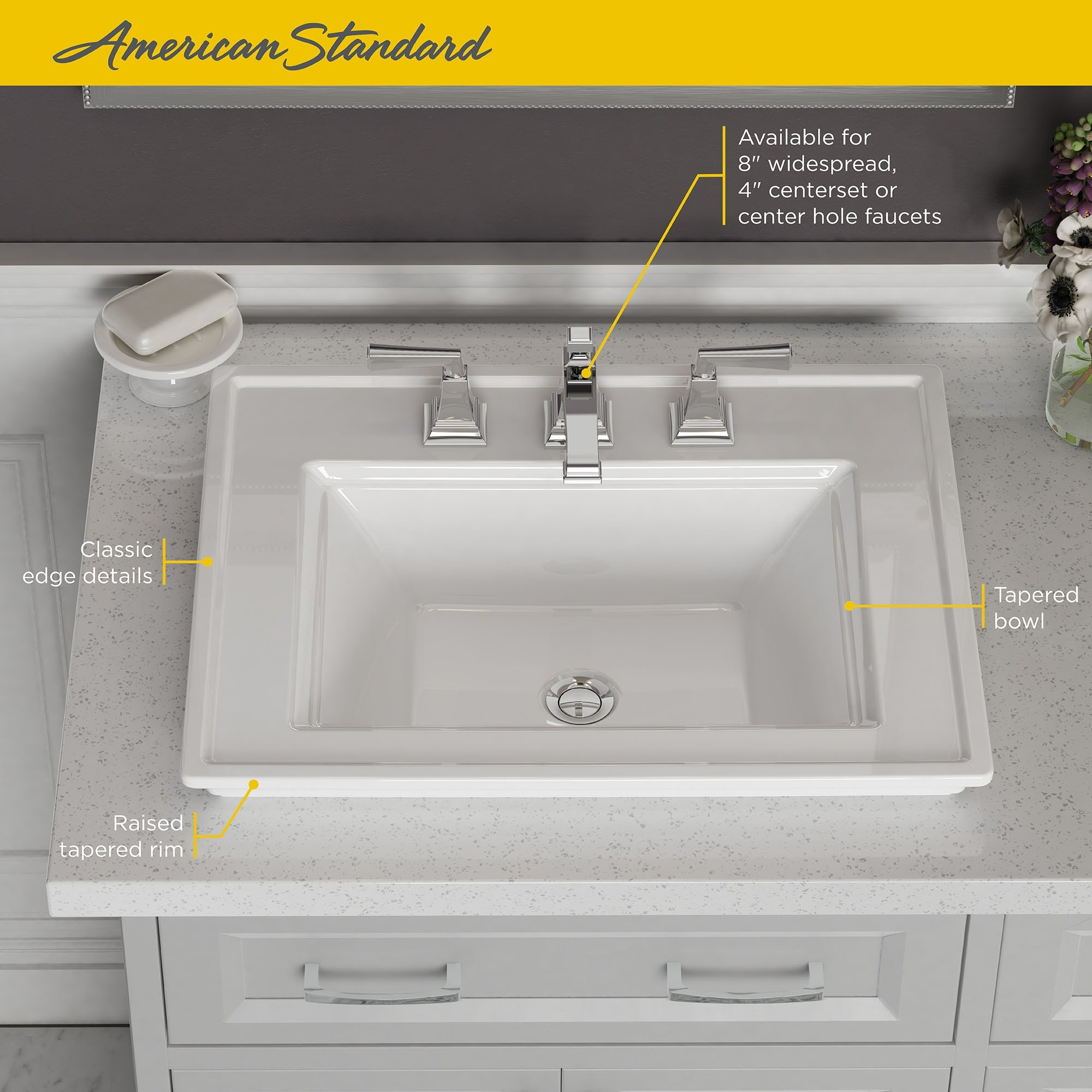 American Standard 1203 008 Town Square S 24 Rectangular