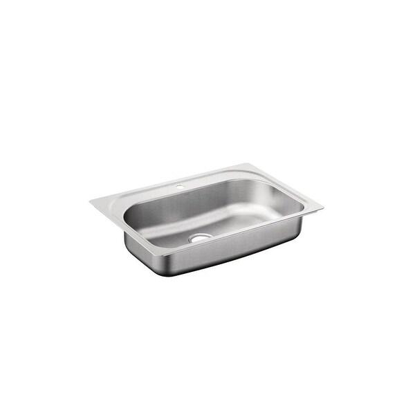 "Moen G181631Q 1800 Series 32-1/8"" Single Basin Stainless Steel Kitchen Sink for Undermount Installation with Quickmount"