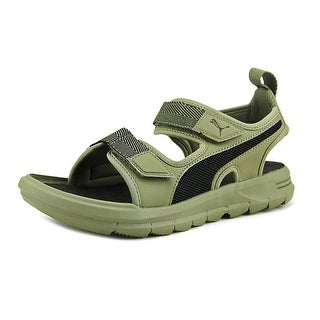 Puma Wild Sandal Plus Youth Open-Toe Synthetic Green Sport Sandal