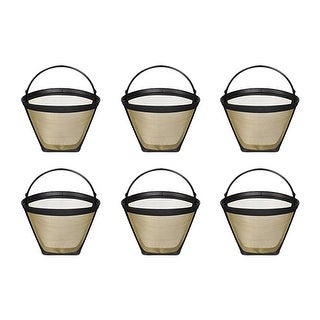 Fits Cuisinart CHW-12 Coffee Machines Gold Tone Filter (6 Pack)