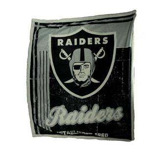 NFL Oakland / Las Vegas Raiders Super Soft Sherpa Throw Blanket - 0.25 X 60 X 50 inches