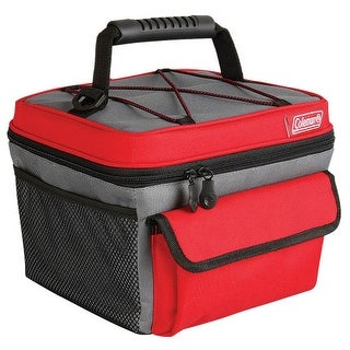 """Coleman 10 Can Rugged Lunch Box Cooler - Red - Gray Rugged Lunch Box"""