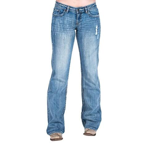 Cowgirl Tuff Western Jeans Womens Tuff Cookie Bootcut Light