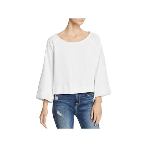 Splendid Womens Surfside Top Cotton Raglan Sleeves - L