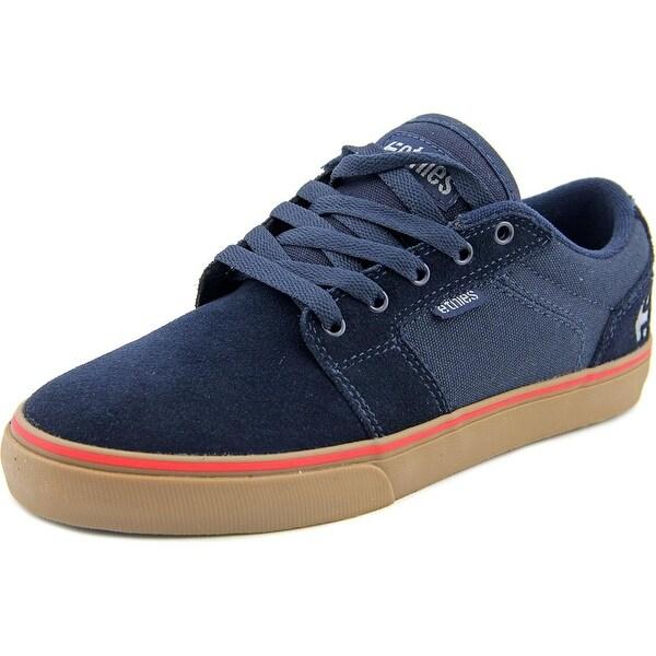 Etnies Barge LS Men Round Toe Suede Blue Skate Shoe