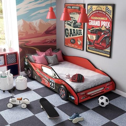 Furniture of America Buckner Race Car Youth Bed