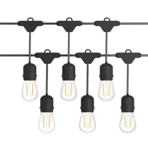 96 FT LED Outdoor Waterproof Commercial String Lights Bulbs - 96ft