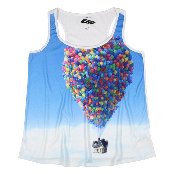 Disney Up Junior's House In The Sky Balloon Sublimation Tank Top. Opens flyout.