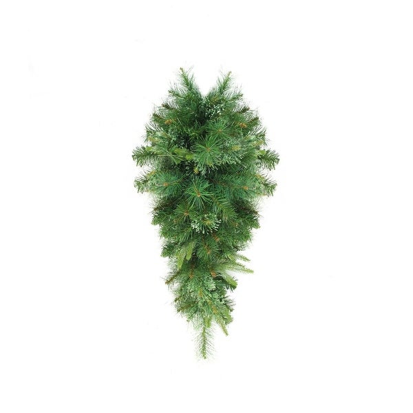 "48"" Cashmere Mixed Pine Artificial Christmas Teardrop Swag - Unlit"