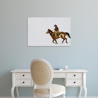 Easy Art Prints Terry Eggers's 'Wyoming Cowboy' Premium Canvas Art