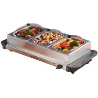 Brentwood Triple Buffet Server w/ Warming Tray