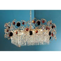 """Classic Lighting 10039-NBZ 25"""" Crystal Chandelier from the Foresta Colorita Collection - n/a"""