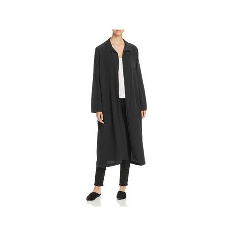 Eileen Fisher Womens Duster Top Tencel Long